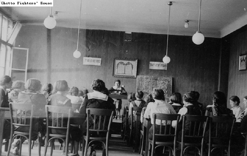 Students in a classroom in the Kraków Seminary
