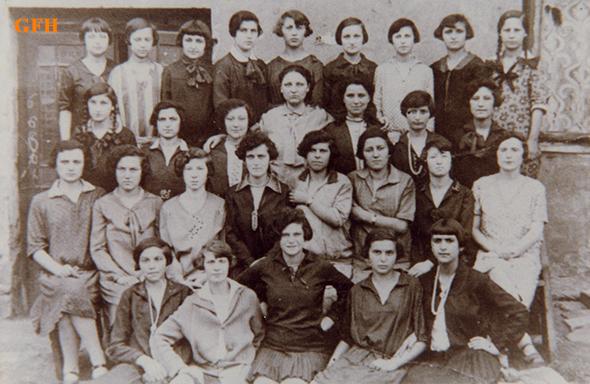 Bais Yaakov students in Chrzanów